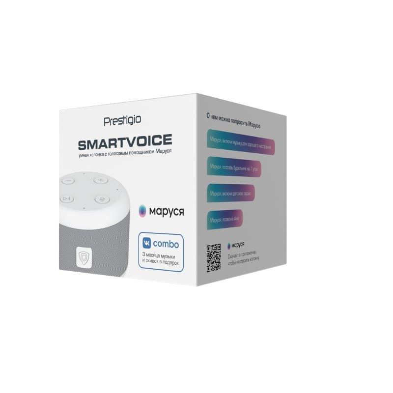 Prestigio SmartVoice - умная колонка, белая